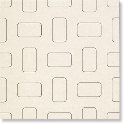 Light Glossy White Inserto Pattern nat. 45x45