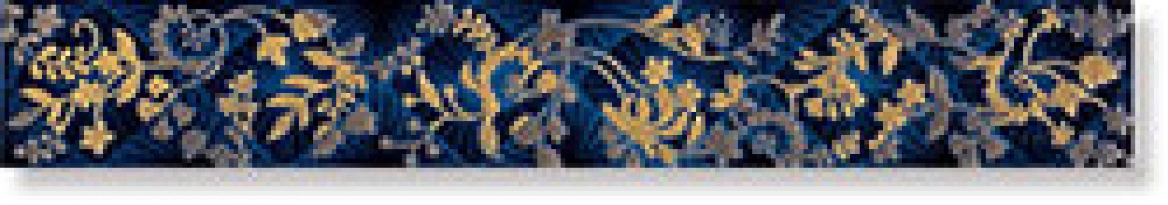 Бордюр Listelo Elegance Azul 6x40