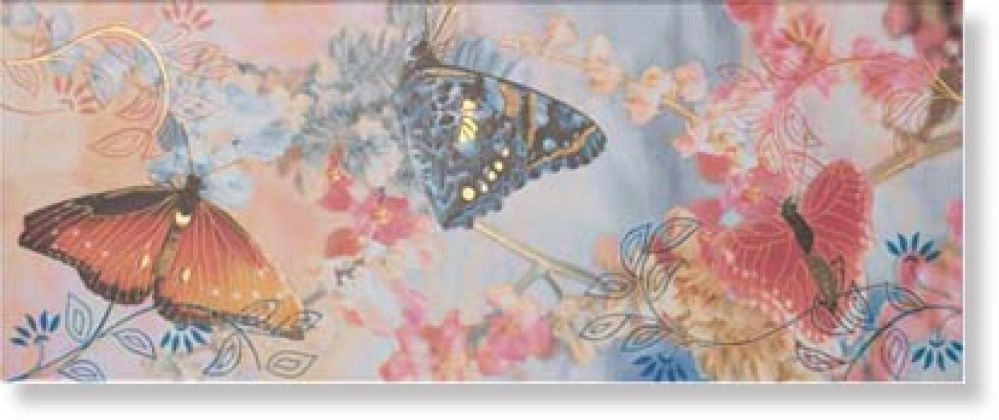 Decor Mariposa Blanco 20x50