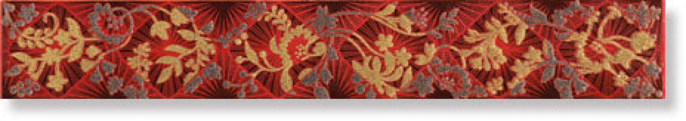 Бордюр Listelo Elegance Rojo 6x40