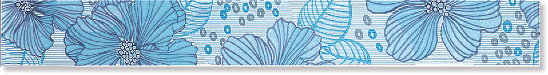 Бордюр B1474/7000 Челси голубой 6x50