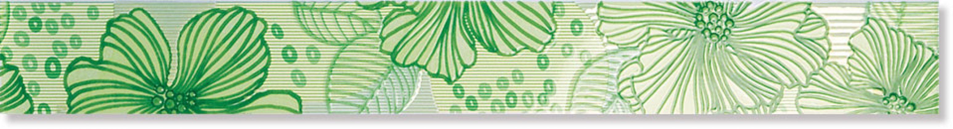 Бордюр A1474/7000 Челси зеленый 6x50