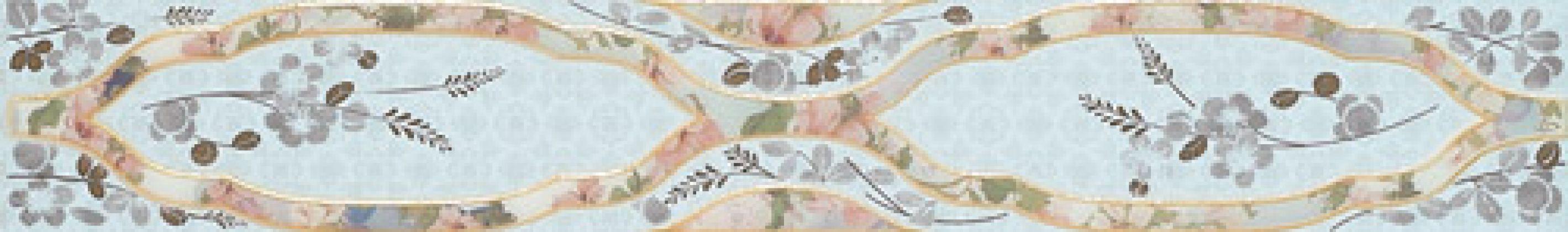 Бордюр Cenefa Sakura Indigo 7x50