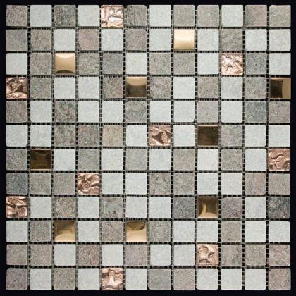 Mix Stone&Glass&Metal (Natural Mosaic)