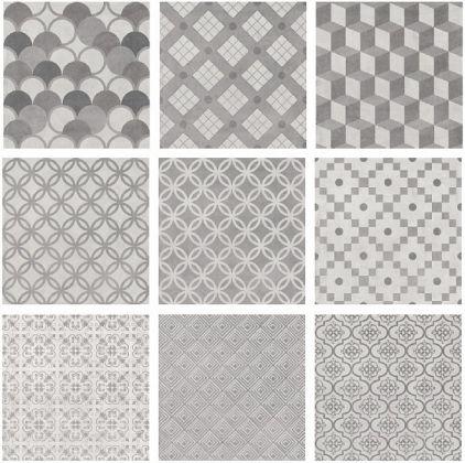 8645370b4 Плитка Карнаби-стрит Орнамент Серый 20.1x20.1 1576 N (Kerama Marazzi ...