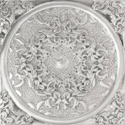 1458 Plox Floresta Satined Black Silver 8x8