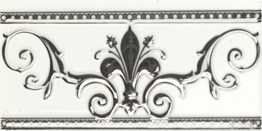 Cenefa Blanco Silver 10x20