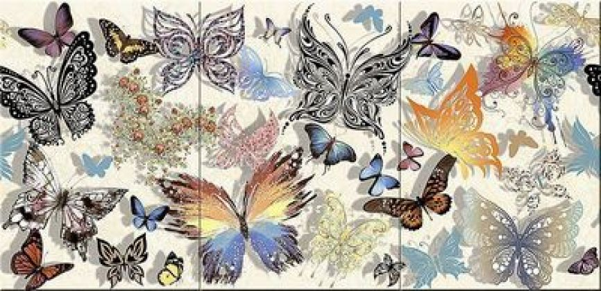 Бабочки 40x83