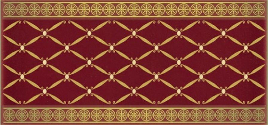 Cenefa Delis Burdeos Gold 10x20