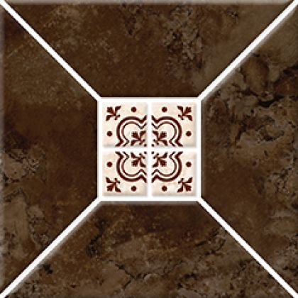 Риальто 3Т тип 1 Плитка настенная коричневая 2х2 20x20