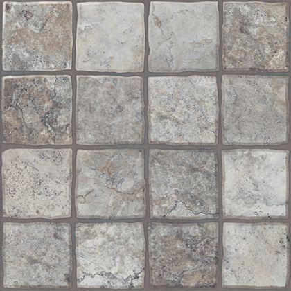 Карфаген 2 Керамогранит тёмно-серый 4х4 40x40