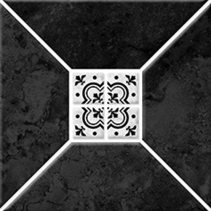 Риальто 1Т тип 1 Плитка настенная черная 2х2 20x20