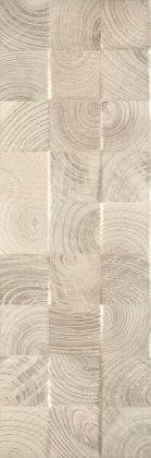 Daikiri Beige Wood Kostki Struktura Плитка настенная 25x75
