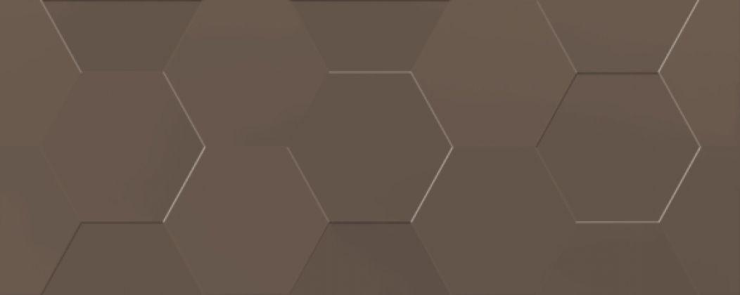 Даймонд 3Т Плитка настенная коричневый 20x50