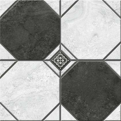 Лимбург 1Д тип 2 Керамогранит черно-белый микс 4х4 40x40