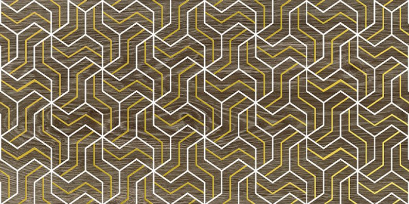 Genesis Fractal Декор коричневый 30x60