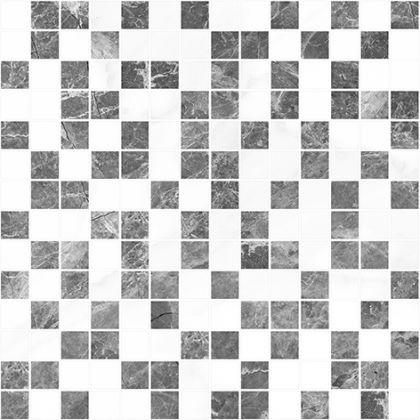 Crystal Мозаика серый+белый 30x30