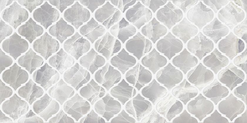 Plazma Nuance Декор серый 30x60