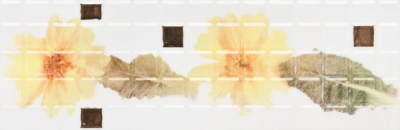 CUBA GERBERA бордюр жёлтый YL 9,6x29,5