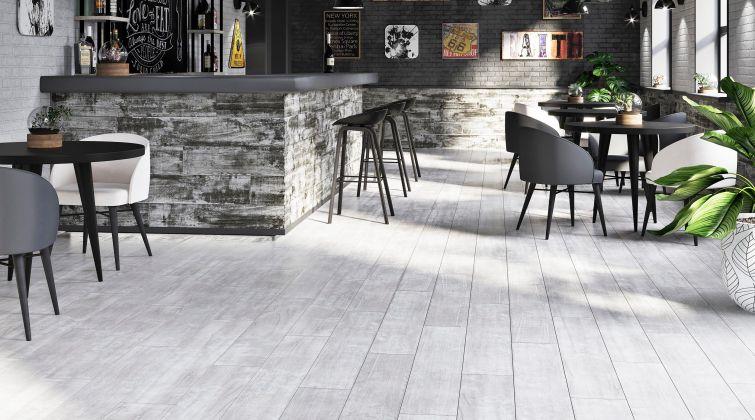 Pale Wood Керамогранит K-550/MR/ Белый 20x120