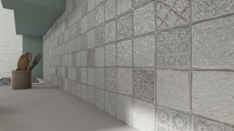 Карфаген 3Д Керамогранит бежевый декор 4х4 40x40