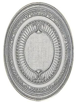 Plata-Perla Medallon 14x10