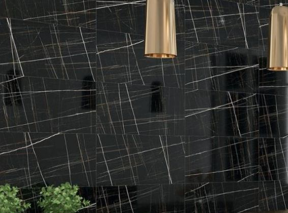 MERIDYEN Black Polished 60x60