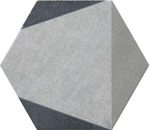 HEXTANGRAM FABRIC GREY 28,5x33