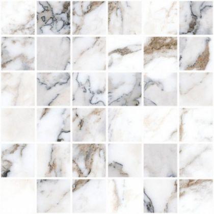 Marble-X Мозаика Бреча Капрайа Белый ЛПР (5x5) 30x30