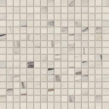 Marvel Bianco Fantastico Mosaico Lappato 30x30