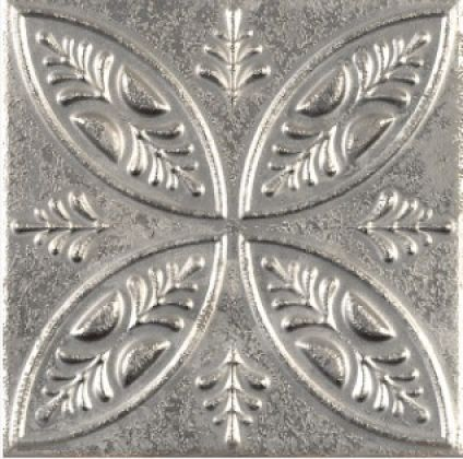 Aged Silver Ornato 20x20