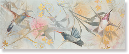 Decor Colibri Blanco 20x50