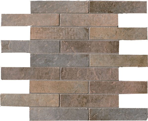 Mosaico Mix Dark Quarry Stone Sestino (Forest, Slate) 30x30