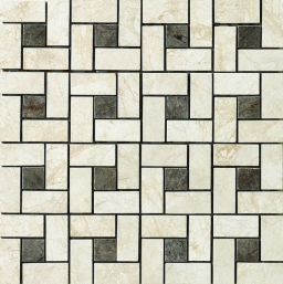 FLAMINIA PIN WHEEL MOSAICO (BIANCO/ NERO)