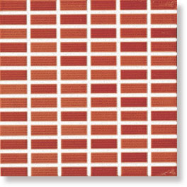 Glamour Coral Mosaic 25x25 25x25