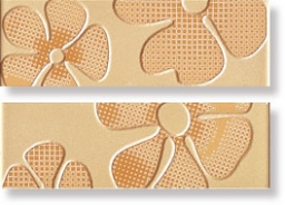 Бордюр Glamour Apricot List. Flower Mix 2 8x45 (LGFP)