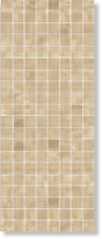 Mosaico Quadrato Light Emperador 20x50