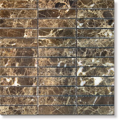 390853 Achat natural stone Dark Imperador, polished 30x30