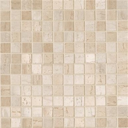 Mosaico Travertino Mix Beige-Crema lapp rett