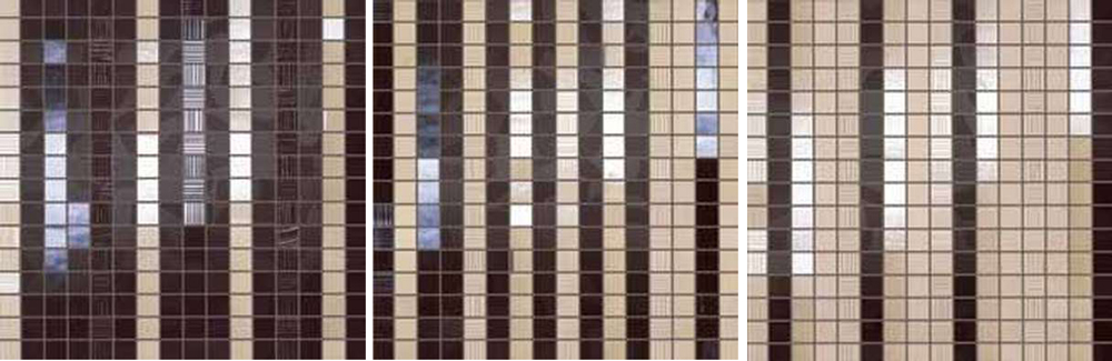 Degrade Beige Marrone Mosaico S/3 30x91