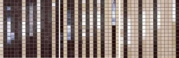 Degrade Beige Marrone Mosaico S/3