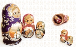 Decor Matrioshka Blanco