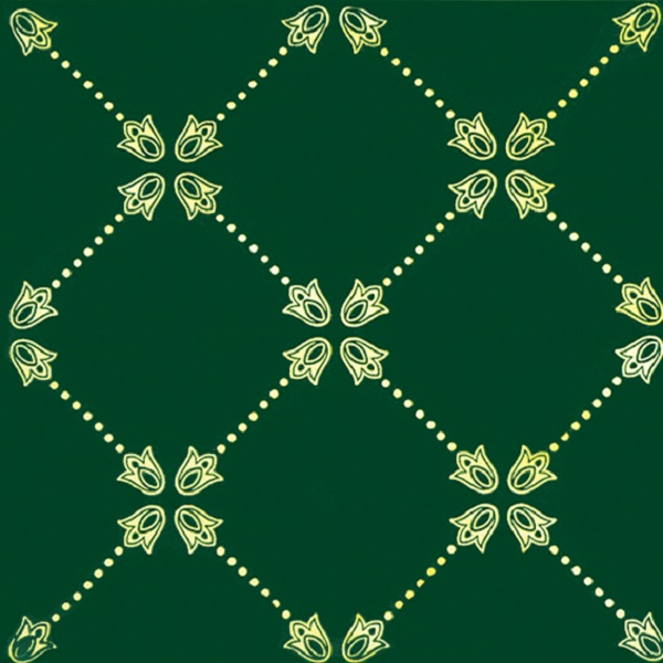 Paisley Net Decor Verde Botella 20x20