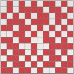 Arcobaleno Shine Mosaico White-Red