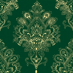 Paisley Decor Verde Botella