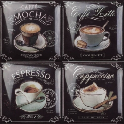 Coffee Decors 4pz
