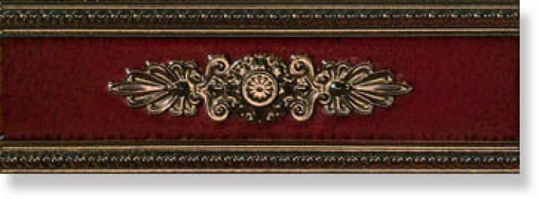 Бордюр P17044 Lirica Bordeaux Listello Decor 10x30