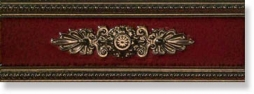 Бордюр P17044 Lirica Bordeaux Listello Decor