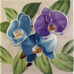 Orquideas Placa Decor Malva
