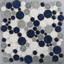 Mosaico Sphere Blue/White
